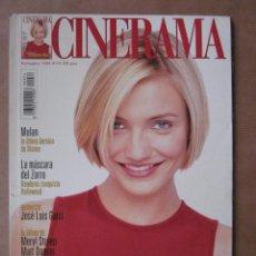 Cine: REVISTA CINERAMA - NÚMERO 74 - NOVIEMBRE 1998 - INCLUYE FASCÍCULO DE DICCIONARIO DE ACTORES. Lote 52731675