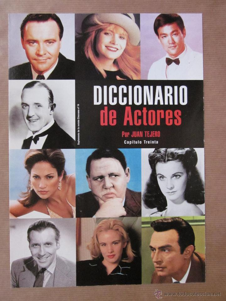 Cine: REVISTA CINERAMA - NÚMERO 74 - NOVIEMBRE 1998 - INCLUYE FASCÍCULO DE DICCIONARIO DE ACTORES - Foto 2 - 52731675