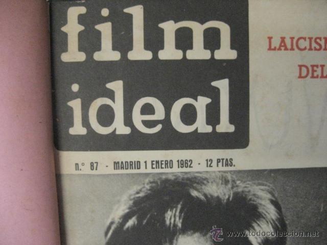 Cine: Revista de cine: film ideal Del nº 87 al 110 Año 1962, 24 números Año completo encuadernado gfa1 - Foto 2 - 52688536