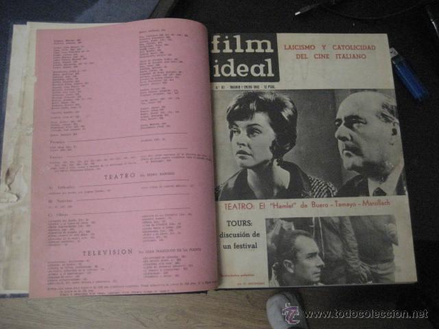 Cine: Revista de cine: film ideal Del nº 87 al 110 Año 1962, 24 números Año completo encuadernado gfa1 - Foto 3 - 52688536