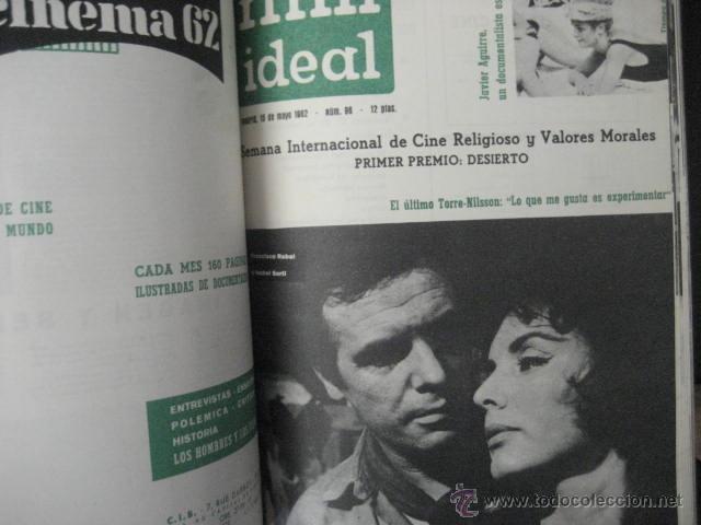 Cine: Revista de cine: film ideal Del nº 87 al 110 Año 1962, 24 números Año completo encuadernado gfa1 - Foto 9 - 52688536