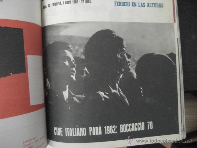 Cine: Revista de cine: film ideal Del nº 87 al 110 Año 1962, 24 números Año completo encuadernado gfa1 - Foto 12 - 52688536