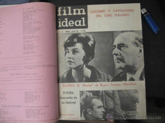 REVISTA DE CINE: FILM IDEAL DEL Nº 87 AL 110 AÑO 1962, 24 NÚMEROS AÑO COMPLETO ENCUADERNADO GFA1 (Cine - Revistas - Film Ideal)