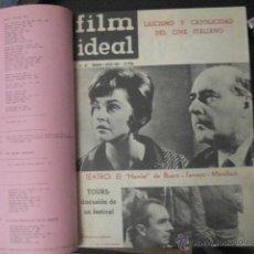 Cine: REVISTA DE CINE: FILM IDEAL DEL Nº 87 AL 110 AÑO 1962, 24 NÚMEROS AÑO COMPLETO ENCUADERNADO GFA1. Lote 52688536