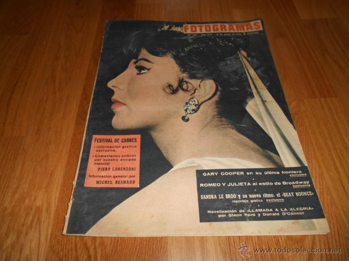 FOTOGRAMAS Nº 650 (12 MAYO 1961) JOAN COLLINS, SANDRA LE BROCO, GARY COOPER, CANNES (Cine - Revistas - Fotogramas)