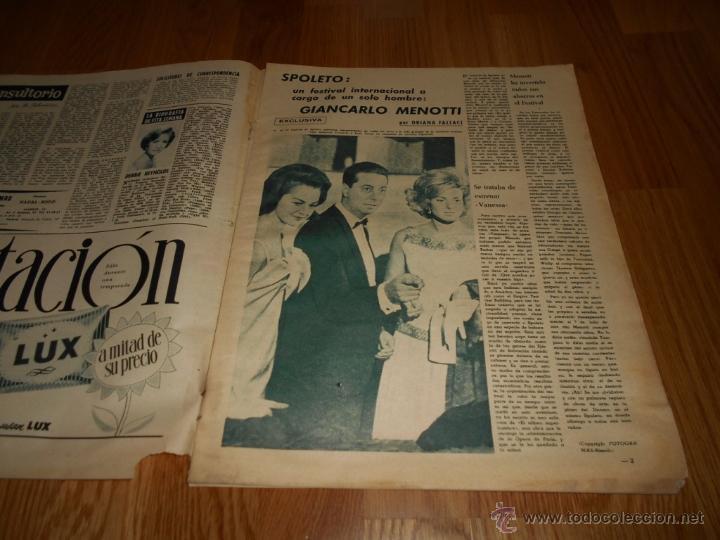 Cine: FOTOGRAMAS Nº 659 14 - JULIO - 1961 FESTIVAL SAN SEBASTIAN . CLAUDIA CARDINALE - Foto 2 - 52748757