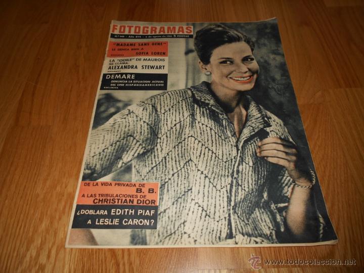FOTOGRAMAS Nº 662 4 AGOSTO 1961 ALEXANDRA STEWART BRIGITTE BARDOT SOFIA LOREN (Cine - Revistas - Fotogramas)
