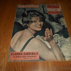 Cine: FOTOGRAMAS Nº 674 ( 27 OCTUBRE 1961 ) CLAUDIA CARDINALE, SACHA DISTEL, GENE TIERNEY. Lote 52749368