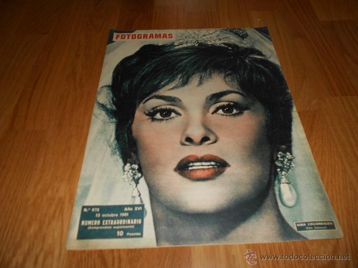 GINA LOLLOBRIGIDA GLORIA SWANSON REVISTA FOTOGRAMAS NUMERO 672 1961 NUMERO EXTRAORDINARIO PERFECTA (Cine - Revistas - Fotogramas)