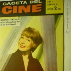 Cine: REVISTA 16 GACETA DEL CINE.- SHIRLEY MAC LAINE ----BB. Lote 52770731