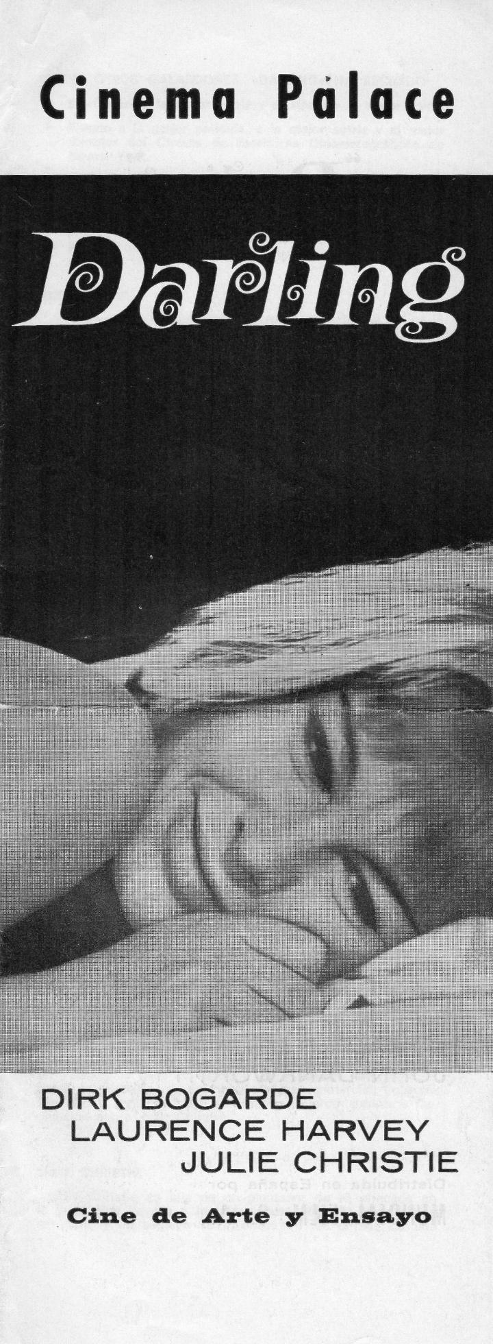 FOLLETO ORIGINAL DE DARLING, PELÍCULA DE JOHN SCHLESINGER, AÑOS 60 (Cine - Reproducciones de carteles, folletos...)