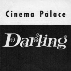Cine: FOLLETO ORIGINAL DE DARLING, PELÍCULA DE JOHN SCHLESINGER, AÑOS 60. Lote 52803685
