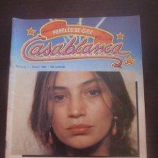 Cine: REVISTA CASABLANCA Nº1 PAPELES DE CINE / 1981 / FERNANDO TRUEBA / CARLOS BOYERO. Lote 52914540