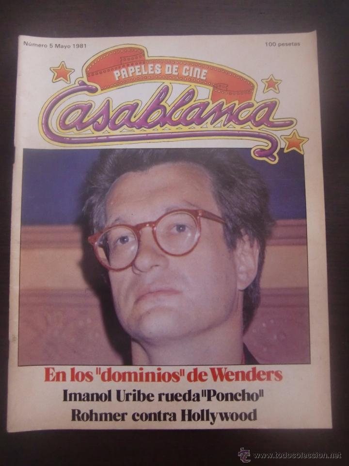REVISTA CASABLANCA Nº 5 PAPELES DE CINE / 1981 / FERNANDO TRUEBA / CARLOS BOYERO (Cine - Revistas - Papeles de cine)