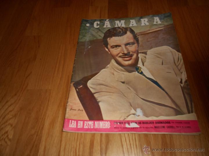 REVISTA DE CINE CAMARA 1946. Nº78. PORTADA: JAMES CRAIG (Cine - Revistas - Cámara)
