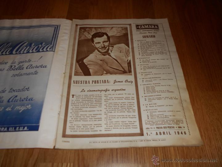 Cine: Revista de cine CAMARA 1946. Nº78. Portada: JAMES CRAIG - Foto 2 - 52962551