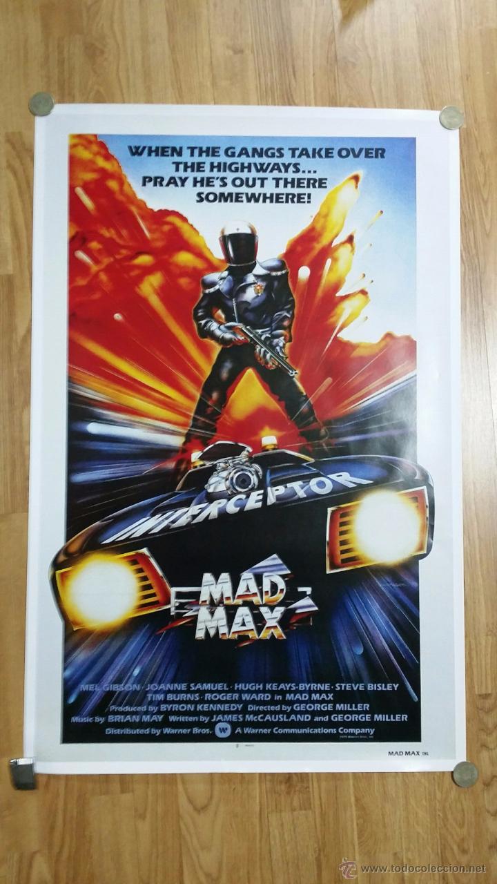 REPRODUCCIÓN ORIGINAL DE CARTEL MAX MAD INTERCEPTOR. TAMAÑO APROX 60X90 CM (Cine - Reproducciones de carteles, folletos...)