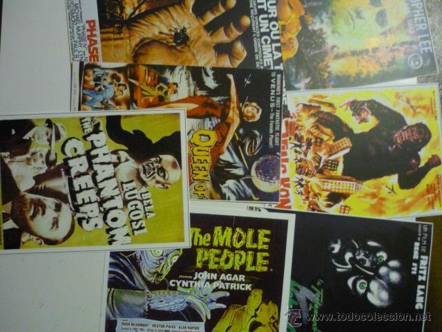 LOTE REPRODUCC,PAPEL PELICULAS TERROR (Cine - Reproducciones de carteles, folletos...)