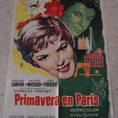 Cine: PRIMAVERA EN PARIS CARTEL ORIGINAL DEL ESTRENO. Lote 53227869
