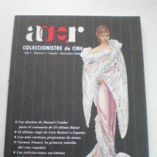 Cine: AGR COLECCIONISTAS DE CINE AÑO 1, Nº 4, MARZO 1999 //CURIOSOS PROGRAMAS DE MANO MANUEL COMBA BUÑUEL. Lote 53315253