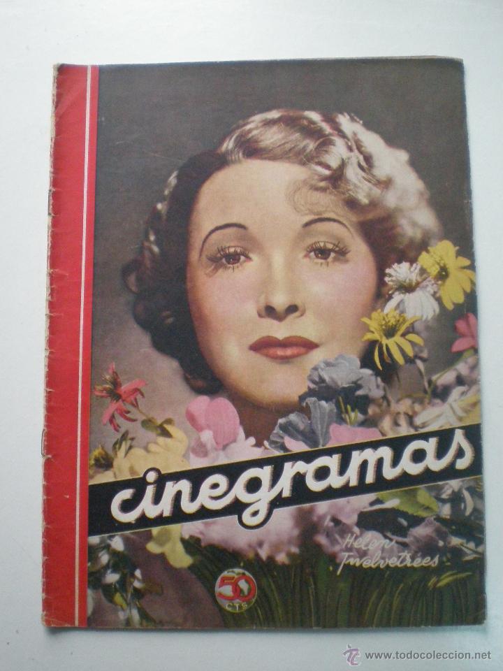 CINEGRAMAS AÑO 1 Nº 7 MADRID 28 OCT 1934 // REVISTA CINE HELEN TWELVETREES MARY BELL ART DECO (Cine - Revistas - Cinegramas)