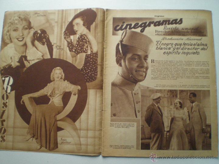 Cine: CINEGRAMAS AÑO 1 Nº 7 MADRID 28 OCT 1934 // REVISTA CINE HELEN TWELVETREES MARY BELL ART DECO - Foto 2 - 53447975