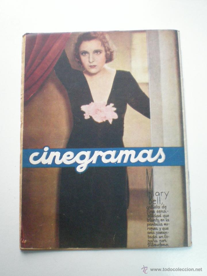Cine: CINEGRAMAS AÑO 1 Nº 7 MADRID 28 OCT 1934 // REVISTA CINE HELEN TWELVETREES MARY BELL ART DECO - Foto 9 - 53447975