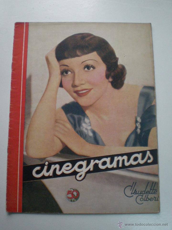 CINEGRAMAS AÑO 1 Nº 9 MADRID 11 NOV 1934 // REVISTA CINE CLAUDETTE COLBERT RONALD COLMAN ART DECO (Cine - Revistas - Cinegramas)