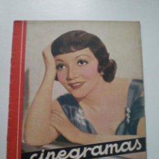 Cine: CINEGRAMAS AÑO 1 Nº 9 MADRID 11 NOV 1934 // REVISTA CINE CLAUDETTE COLBERT RONALD COLMAN ART DECO. Lote 53448162