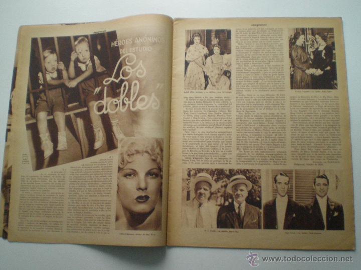 Cine: CINEGRAMAS AÑO 1 Nº 9 MADRID 11 NOV 1934 // REVISTA CINE CLAUDETTE COLBERT RONALD COLMAN ART DECO - Foto 3 - 53448162
