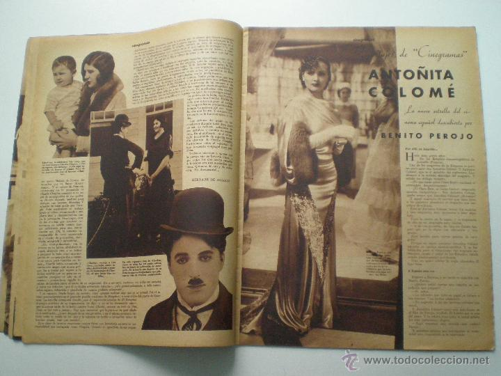 Cine: CINEGRAMAS AÑO 1 Nº 9 MADRID 11 NOV 1934 // REVISTA CINE CLAUDETTE COLBERT RONALD COLMAN ART DECO - Foto 5 - 53448162