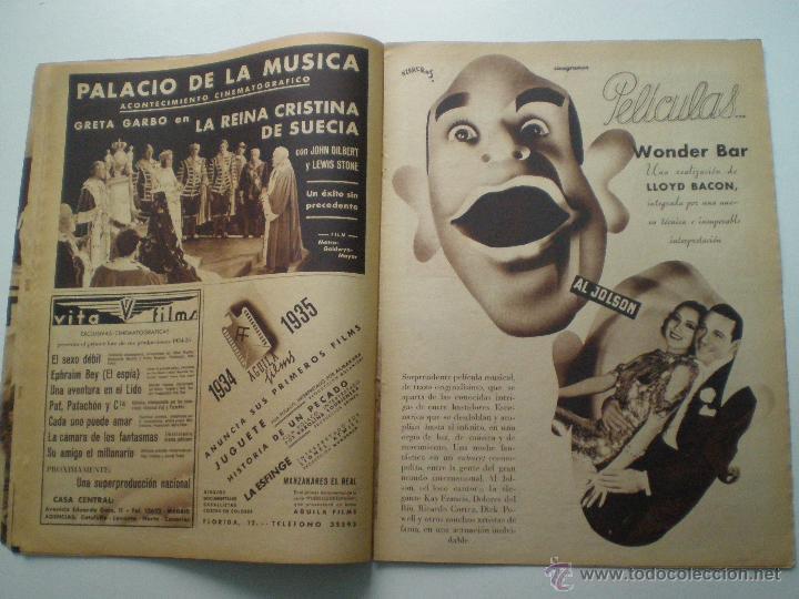 Cine: CINEGRAMAS AÑO 1 Nº 9 MADRID 11 NOV 1934 // REVISTA CINE CLAUDETTE COLBERT RONALD COLMAN ART DECO - Foto 7 - 53448162
