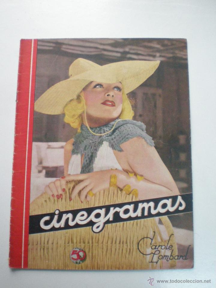 CINEGRAMAS AÑO 1 Nº 10 MADRID 18 NOV 1934 // REVISTA CINE CAROLE LOMBARD GARY COOPER ART DECO MAG (Cine - Revistas - Cinegramas)