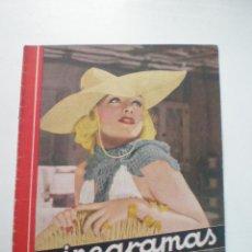 Cine: CINEGRAMAS AÑO 1 Nº 10 MADRID 18 NOV 1934 // REVISTA CINE CAROLE LOMBARD GARY COOPER ART DECO MAG. Lote 53448210