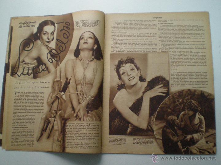 Cine: CINEGRAMAS AÑO 1 Nº 10 MADRID 18 NOV 1934 // REVISTA CINE CAROLE LOMBARD GARY COOPER ART DECO MAG - Foto 4 - 53448210