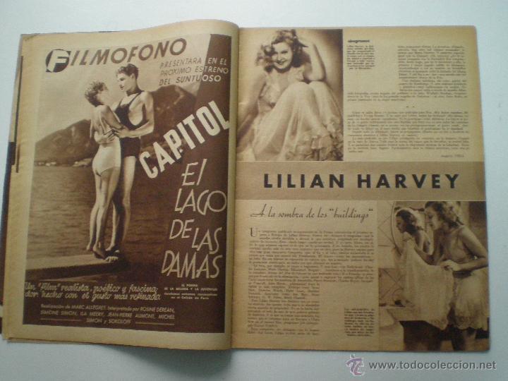 Cine: CINEGRAMAS AÑO 1 Nº 10 MADRID 18 NOV 1934 // REVISTA CINE CAROLE LOMBARD GARY COOPER ART DECO MAG - Foto 5 - 53448210
