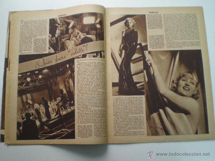 Cine: CINEGRAMAS AÑO 1 Nº 10 MADRID 18 NOV 1934 // REVISTA CINE CAROLE LOMBARD GARY COOPER ART DECO MAG - Foto 6 - 53448210