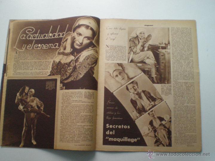 Cine: CINEGRAMAS AÑO 1 Nº 10 MADRID 18 NOV 1934 // REVISTA CINE CAROLE LOMBARD GARY COOPER ART DECO MAG - Foto 7 - 53448210