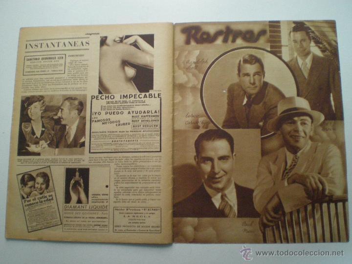 Cine: CINEGRAMAS AÑO 1 Nº 10 MADRID 18 NOV 1934 // REVISTA CINE CAROLE LOMBARD GARY COOPER ART DECO MAG - Foto 10 - 53448210