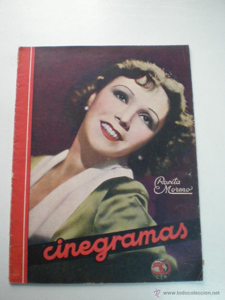 CINEGRAMAS AÑO 1 Nº 13 MADRID 9 DIC 1934 // REVISTA CINE ROSITA MORENO ART DECO MAG (Cine - Revistas - Cinegramas)