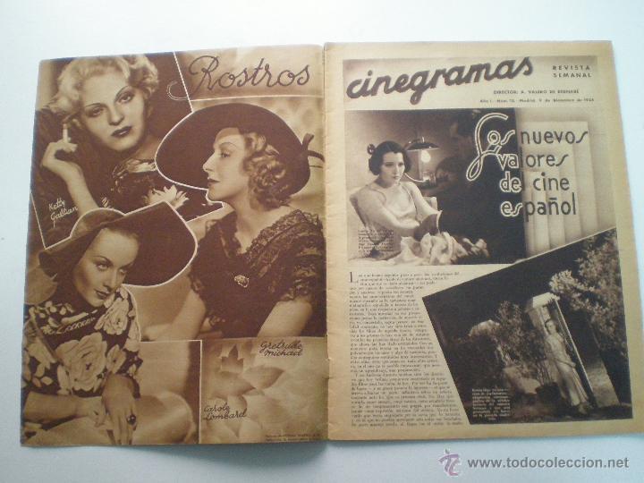 Cine: CINEGRAMAS AÑO 1 Nº 13 MADRID 9 DIC 1934 // REVISTA CINE ROSITA MORENO ART DECO MAG - Foto 2 - 53448338