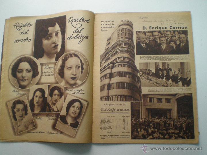 Cine: CINEGRAMAS AÑO 1 Nº 13 MADRID 9 DIC 1934 // REVISTA CINE ROSITA MORENO ART DECO MAG - Foto 5 - 53448338