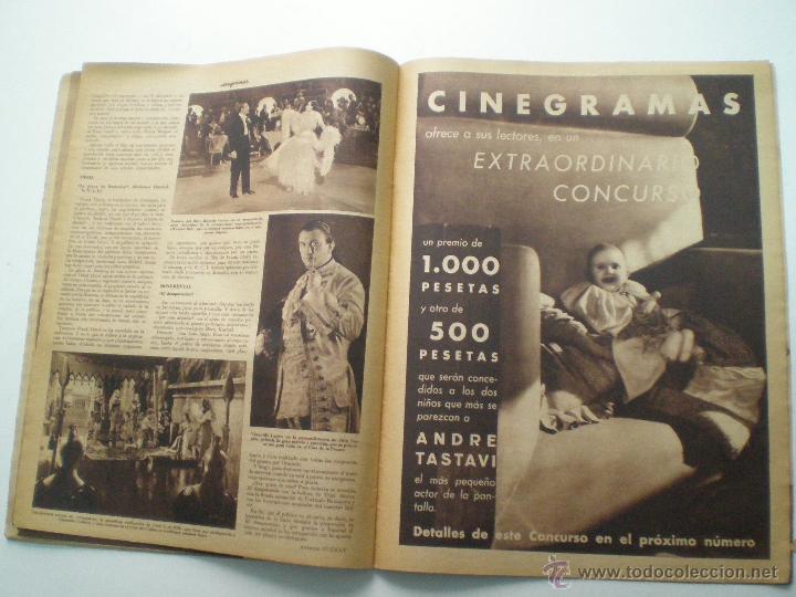 Cine: CINEGRAMAS AÑO 1 Nº 13 MADRID 9 DIC 1934 // REVISTA CINE ROSITA MORENO ART DECO MAG - Foto 9 - 53448338