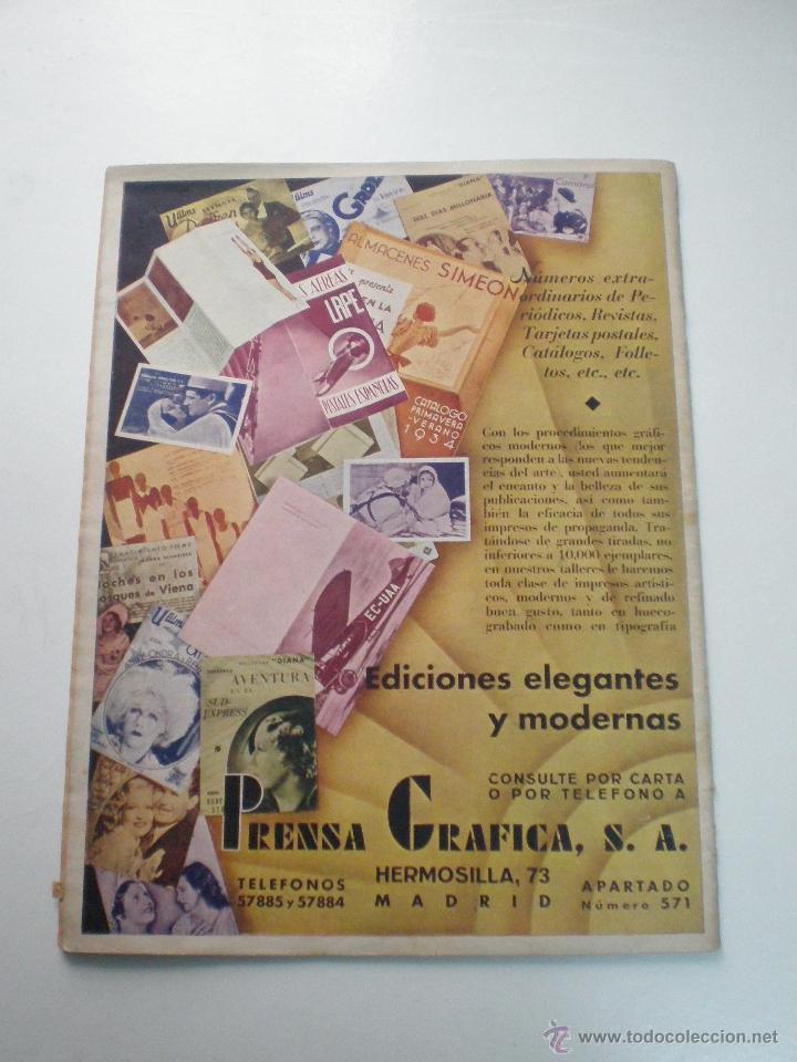 Cine: CINEGRAMAS AÑO 1 Nº 13 MADRID 9 DIC 1934 // REVISTA CINE ROSITA MORENO ART DECO MAG - Foto 12 - 53448338