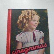 Cine: CINEGRAMAS AÑO 1 Nº 16MADRID 30 DIC 1934 // REVISTA CINE SHIRLEY TEMPLE MARIONETAS DE STAREWITCH. Lote 53451168