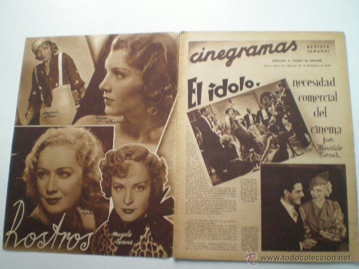 Cine: CINEGRAMAS AÑO 1 Nº 16MADRID 30 dic 1934 // REVISTA CINE SHIRLEY TEMPLE MARIONETAS DE STAREWITCH - Foto 2 - 53451168