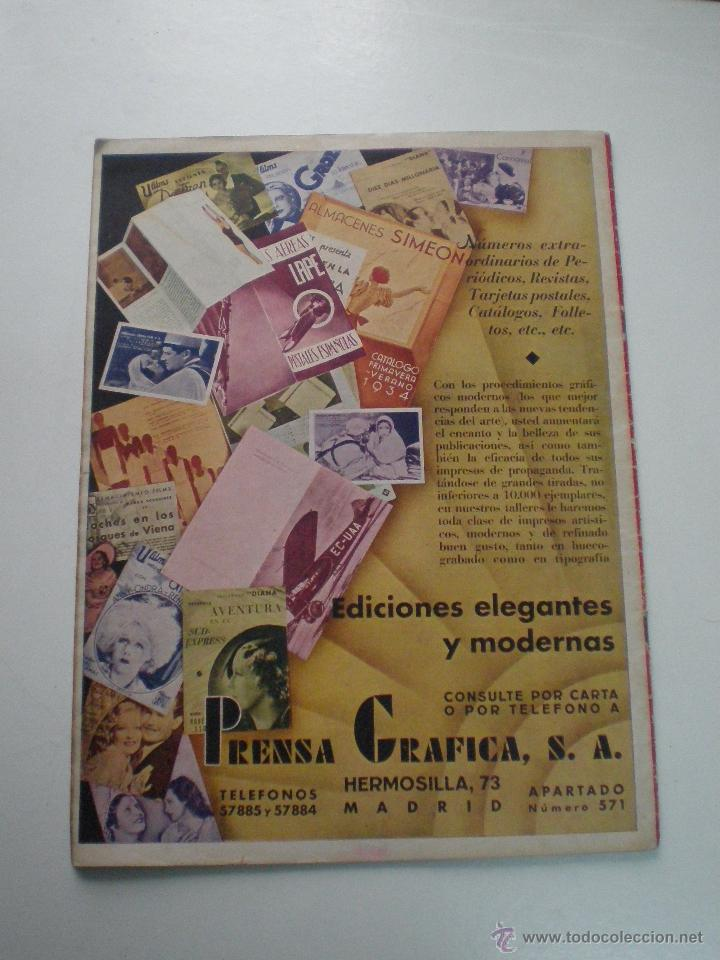 Cine: CINEGRAMAS AÑO 1 Nº 16MADRID 30 dic 1934 // REVISTA CINE SHIRLEY TEMPLE MARIONETAS DE STAREWITCH - Foto 11 - 53451168