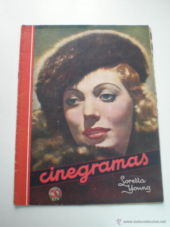 CINEGRAMAS AÑO 2 Nº 17 MADRID 6 ENE 1935 // REVISTA CINE LORETTA YOUNG ROUBEN MAMOULIAN ART DECO MAG (Cine - Revistas - Cinegramas)