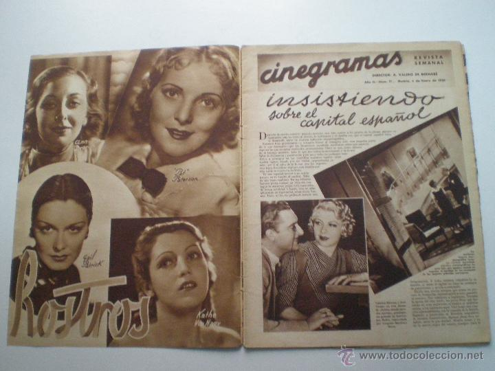 Cine: CINEGRAMAS AÑO 2 Nº 17 MADRID 6 ENE 1935 // REVISTA CINE LORETTA YOUNG ROUBEN MAMOULIAN ART DECO MAG - Foto 2 - 53451291