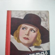 Cine: CINEGRAMAS AÑO 2 Nº 18 MADRID 1 ENE 1935 // REVISTA CINE GRETA GARBO LUBISTSH CHAPLIN ART DECO MAG. Lote 53451397